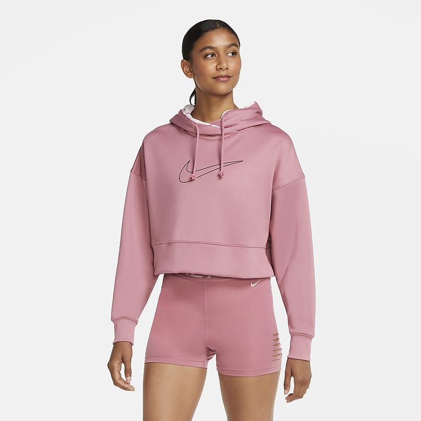 Kort träningshuvtröja i pullovermodell för kvinnor