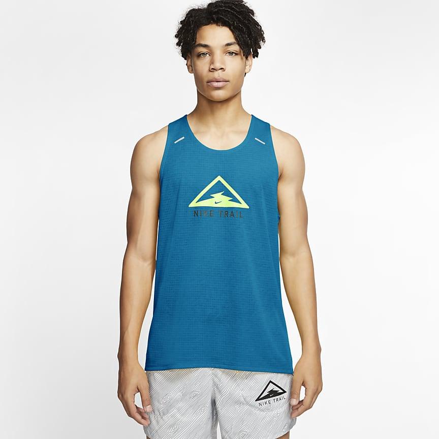 Camiseta de tirantes de trail running para hombre