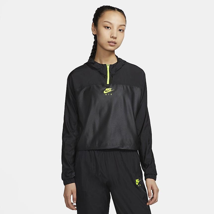 Dámská běžecká bunda s kapucí