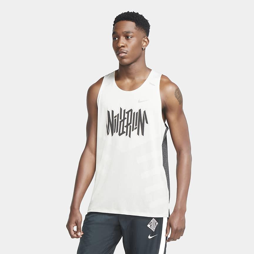 Camisola de running sem mangas para homem
