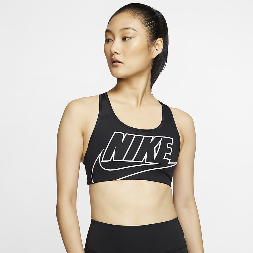 Women's Medium-Support Non-Padded Logo Sports Bra