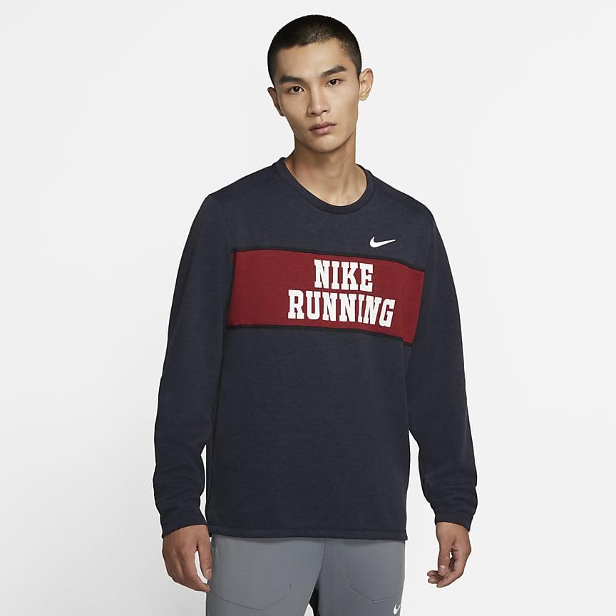 男子跑步圆领上衣