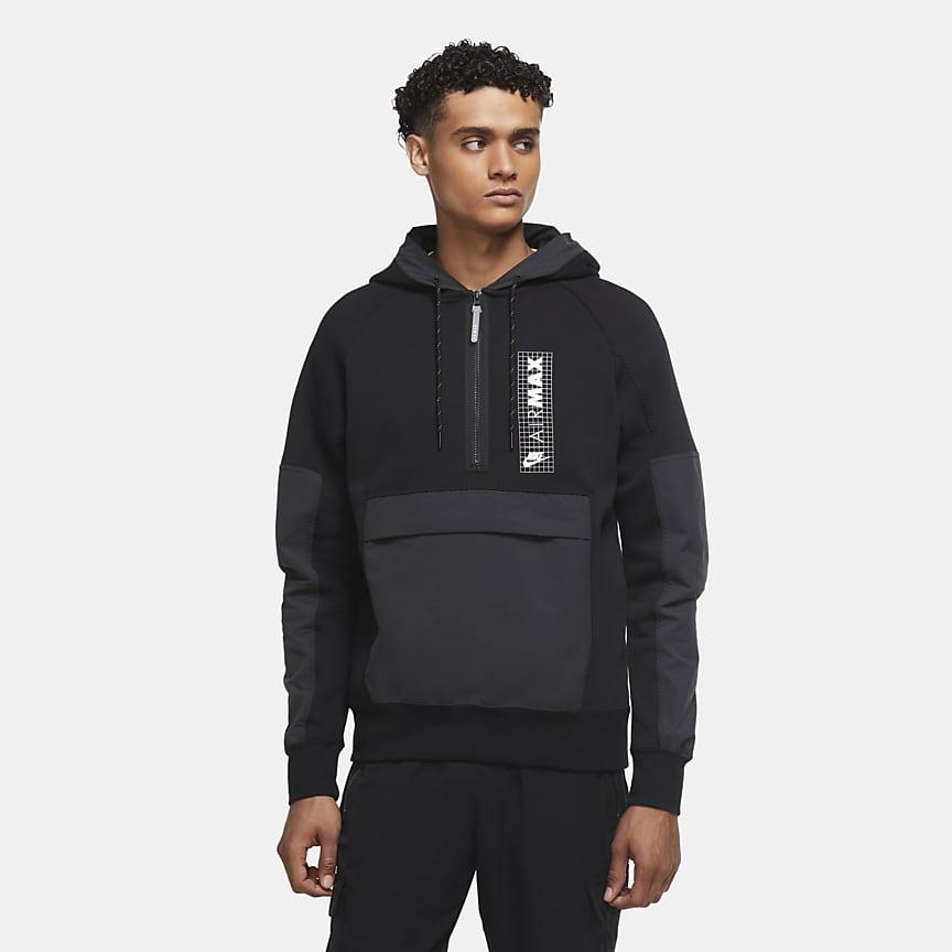 Maglia in fleece con zip a metà lunghezza - Uomo