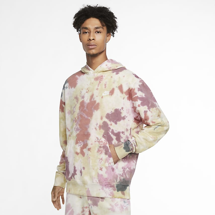 Batik Boyalı Kapüşonlu Sweatshirt