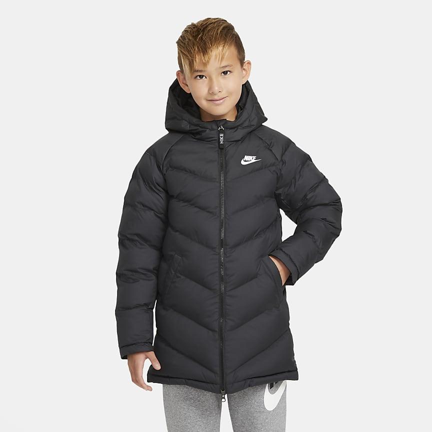 Przedłużona kurtka z syntetycznym wypełnieniem dla dużych dzieci