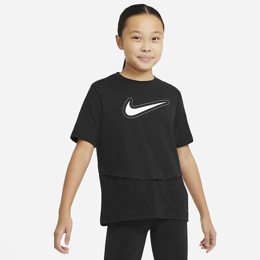 Kortærmet træningsoverdel til store børn (piger)