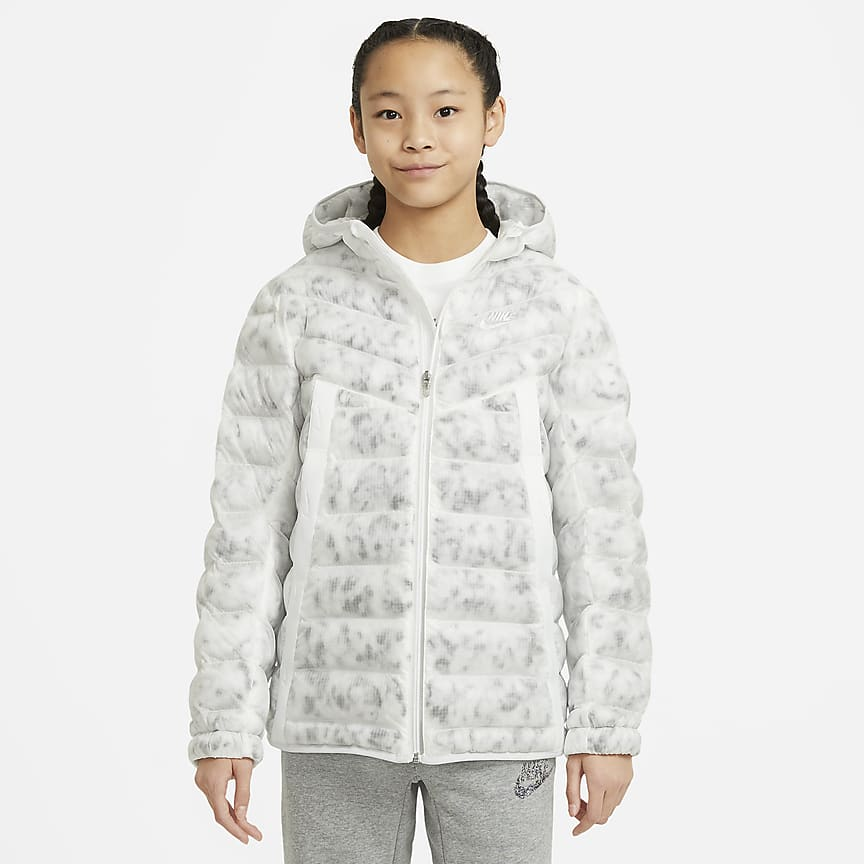 Older Kids' Synthetic-Fill Water-Repellent Marble Jacket