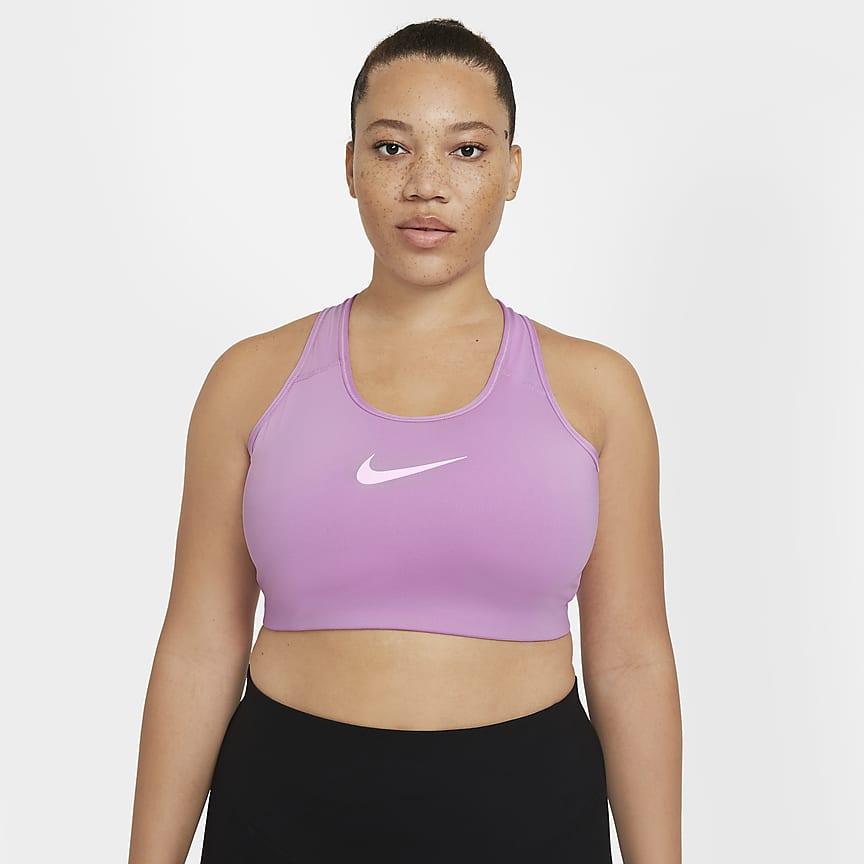 Sujetador deportivo de sujeción media sin acolchado (Talla grande) - Mujer