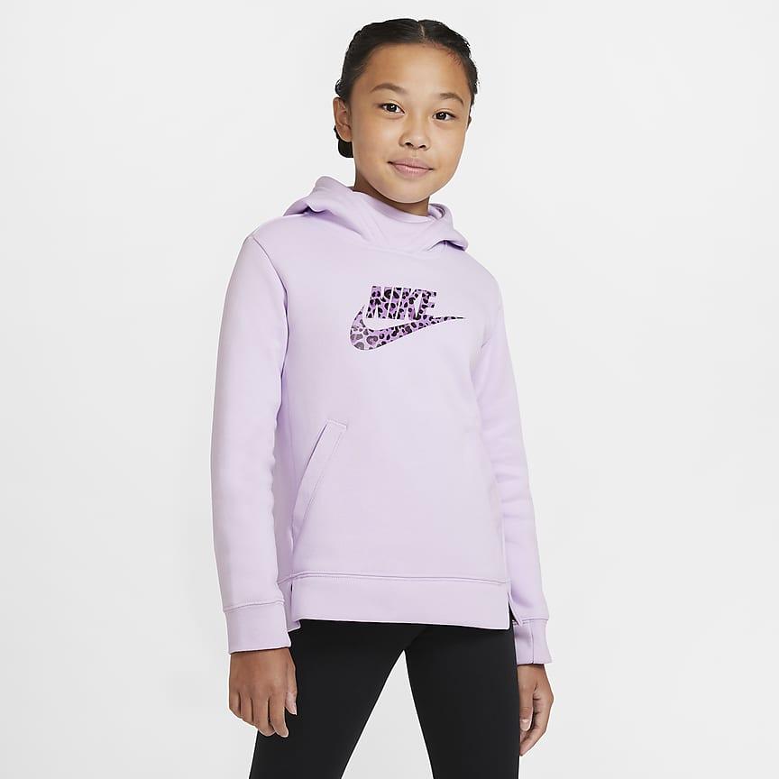 Pullover-hættetrøje til store børn (piger)