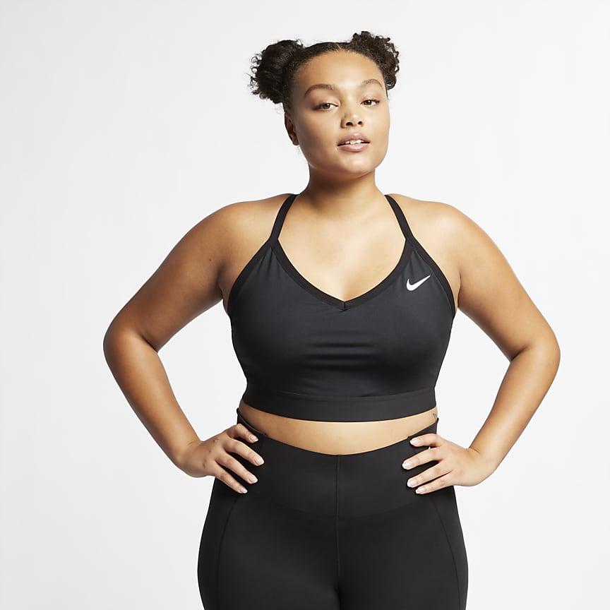 Sports-BH med lett støtte til dame (Plus Size)