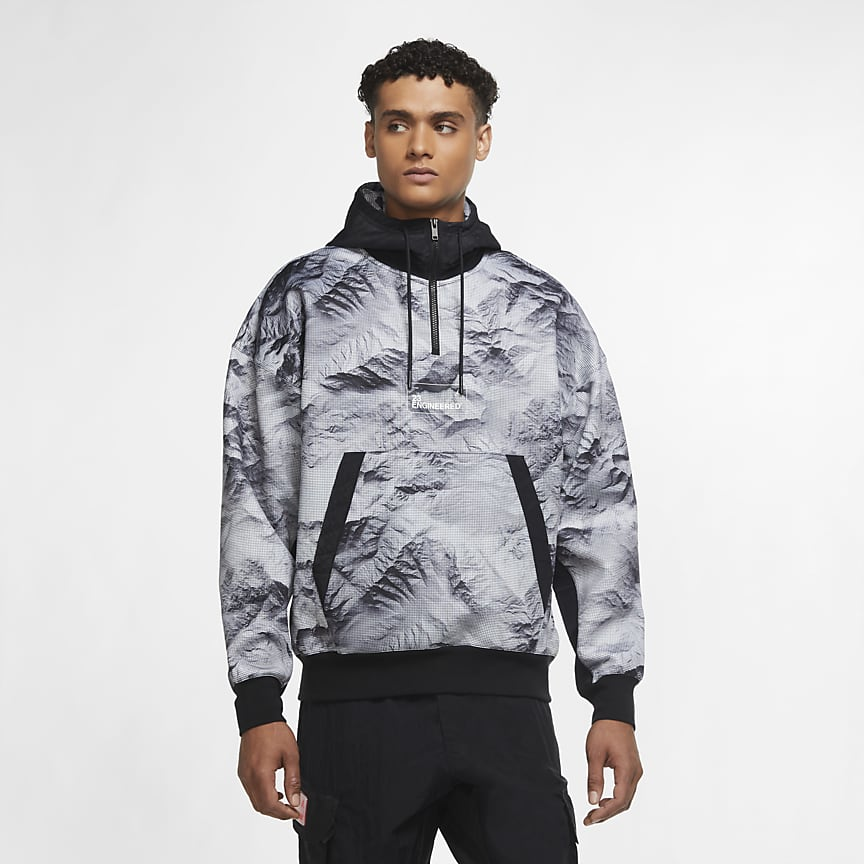 Men's Printed Pullover Hoodie