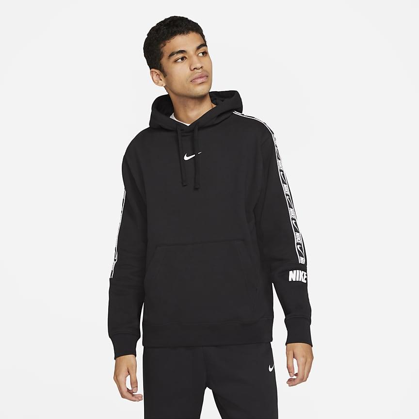 Pullover-hættetrøje i fleece til mænd