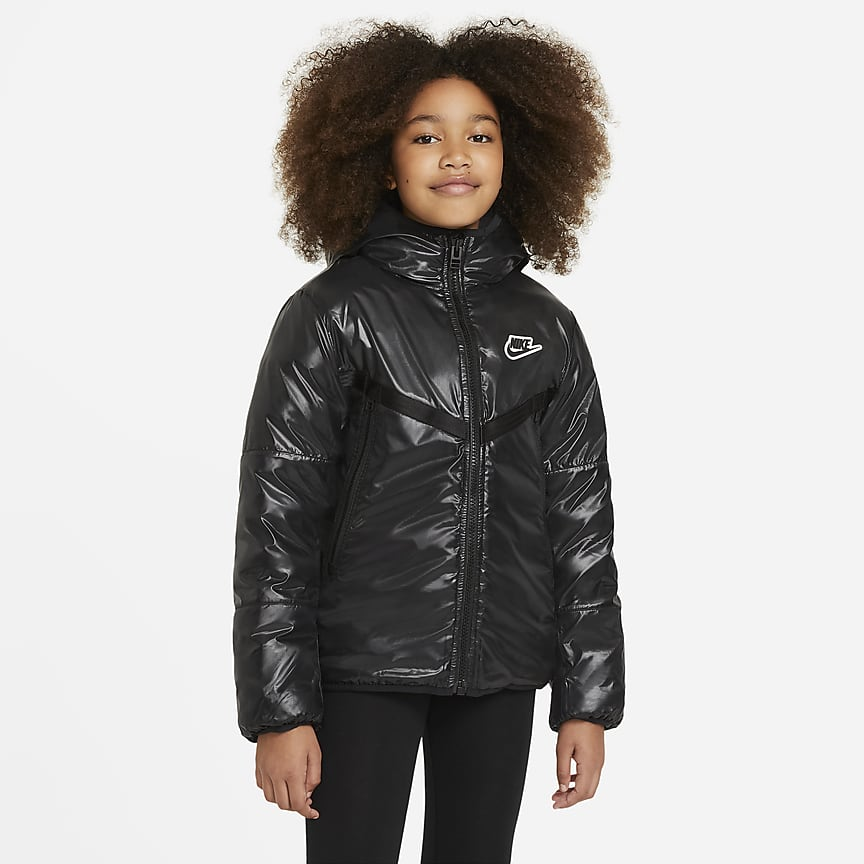 Older Kids' Synthetic-Fill Water-Repellent Jacket
