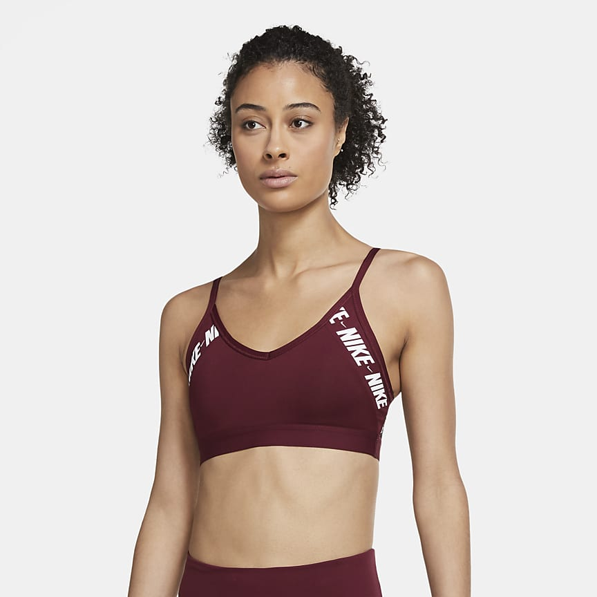 Sports-BH med logo, polstring og lett støtte til dame