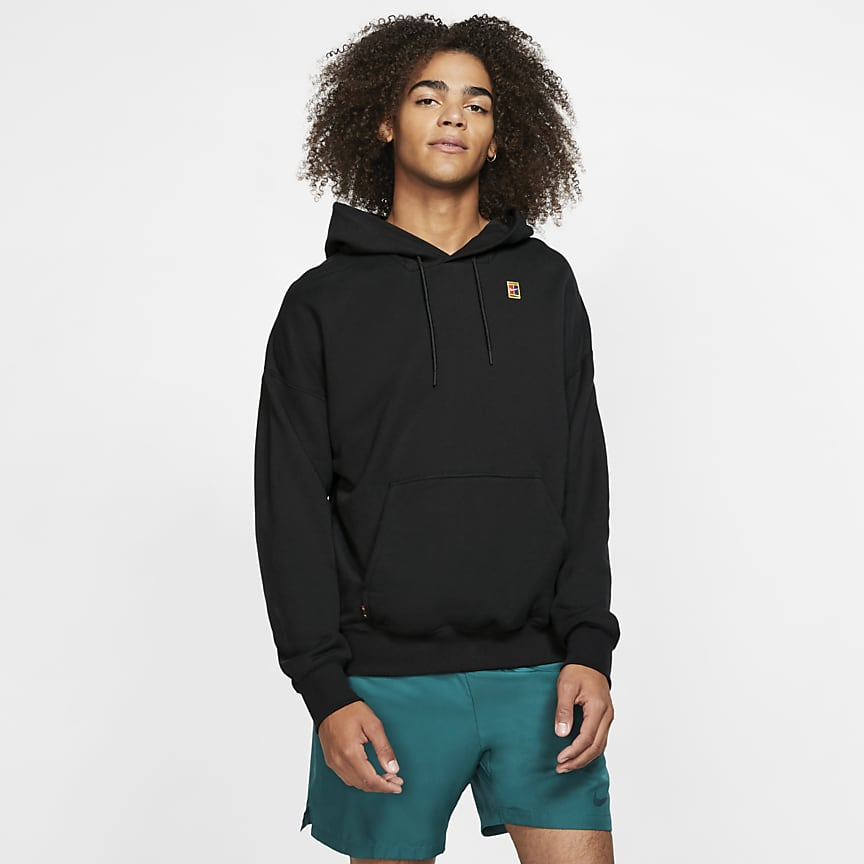 Tennis-Hoodie aus Fleece für Herren