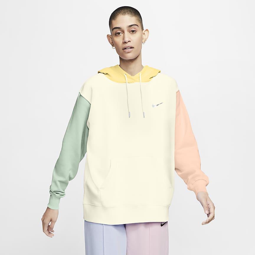 Γυναικεία μπλούζα με κουκούλα και σήμα Swoosh
