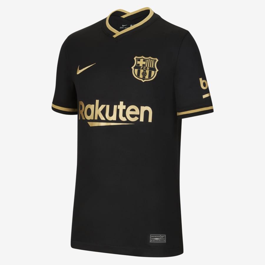 Completo Maglia e Pantaloni Secondo equipaggiamento FC Barcelona ...