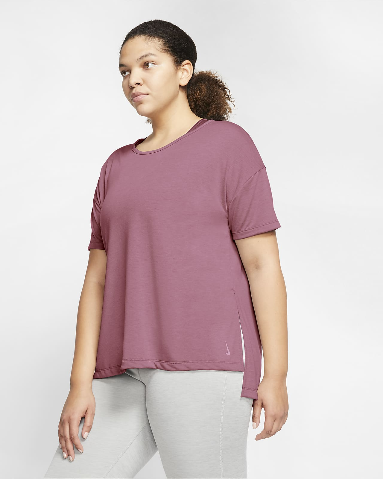 Haut à manches courtes Nike Yoga pour Femme (grande taille)