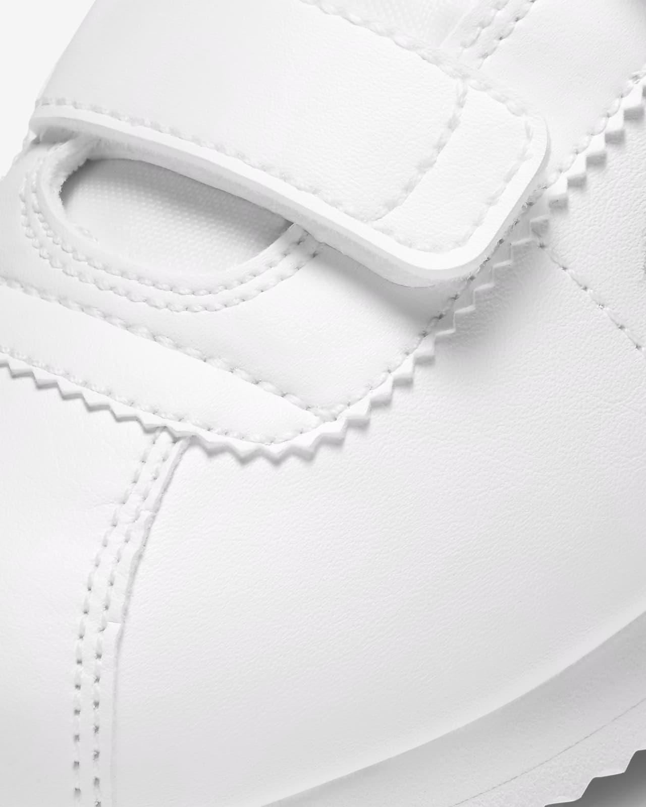 cortez nike all white