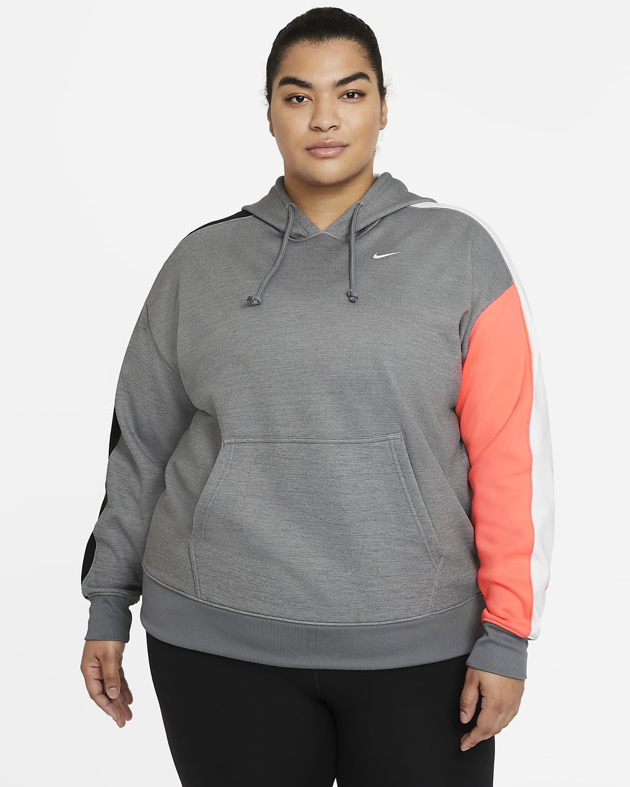 Sweat à capuche de training color-block Nike Therma pour Femme (grande taille)