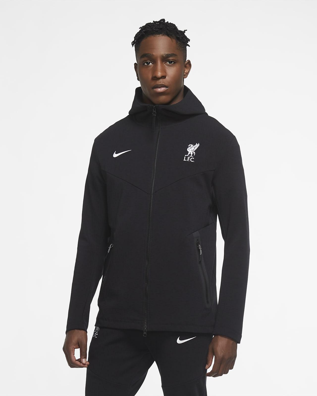 Liverpool FC Tech Pack hettejakke med hel glidelås til herre