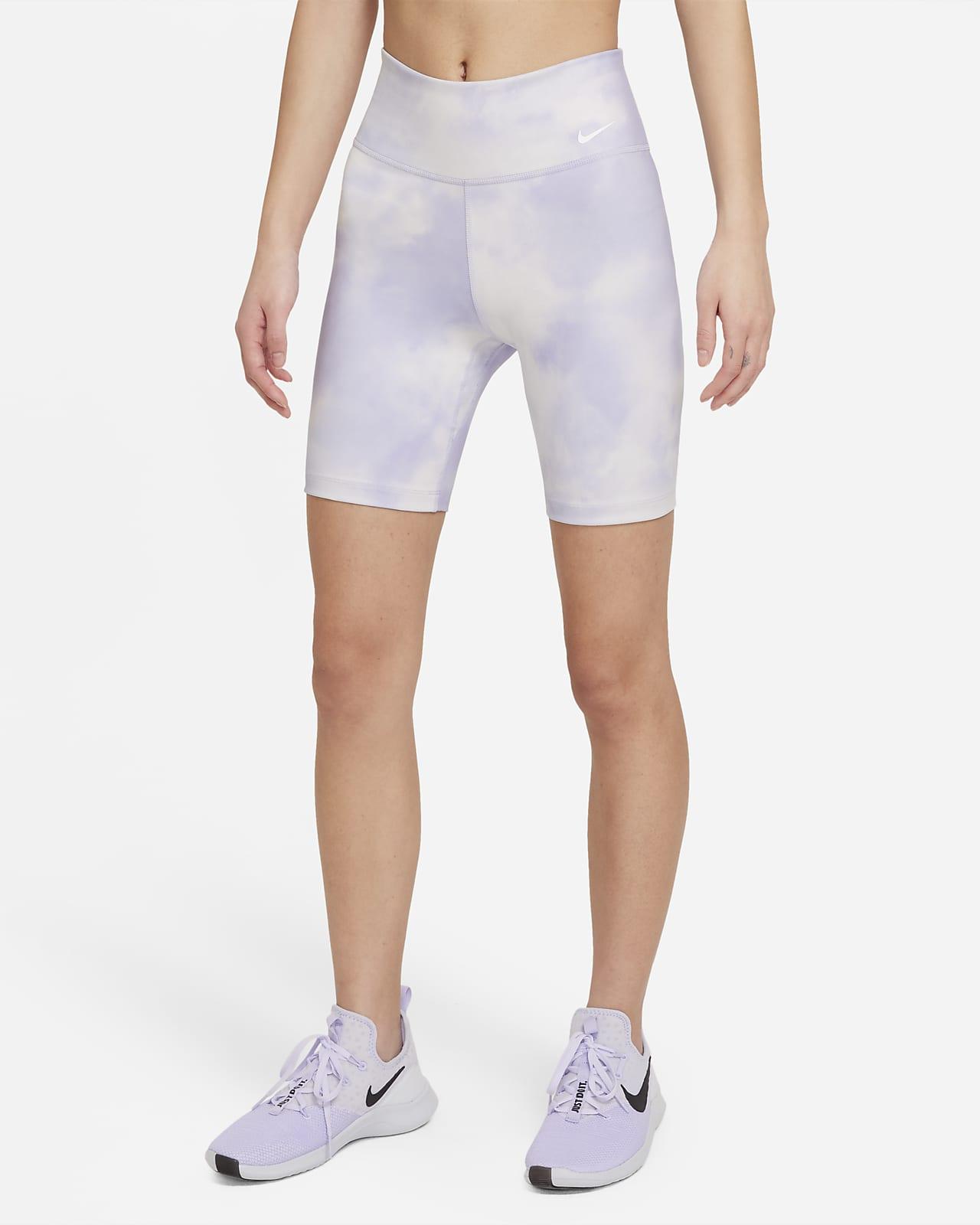 กางเกงขาสั้น 7 นิ้วผู้หญิงพิมพ์ลาย Nike One Icon Clash