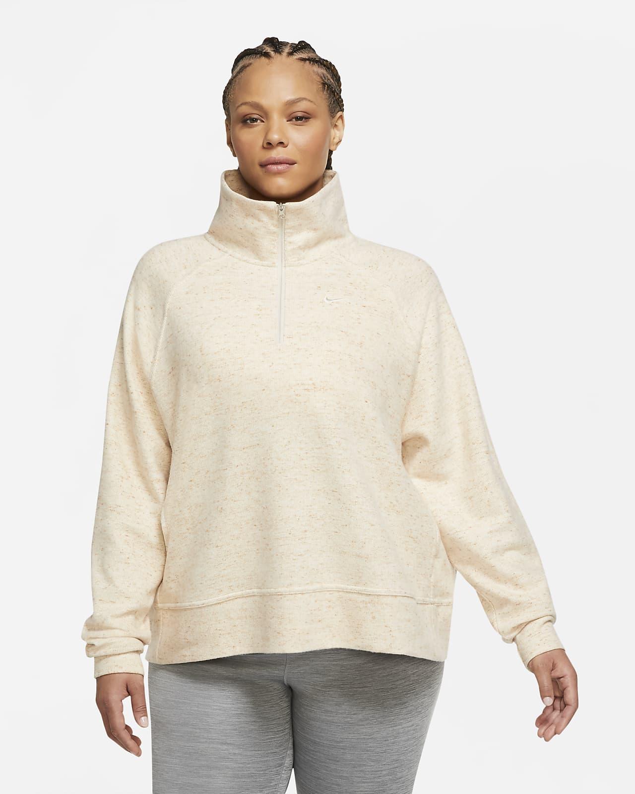 Nike Therma Women's 1/2-Zip Fleece Training Top (Plus Size)