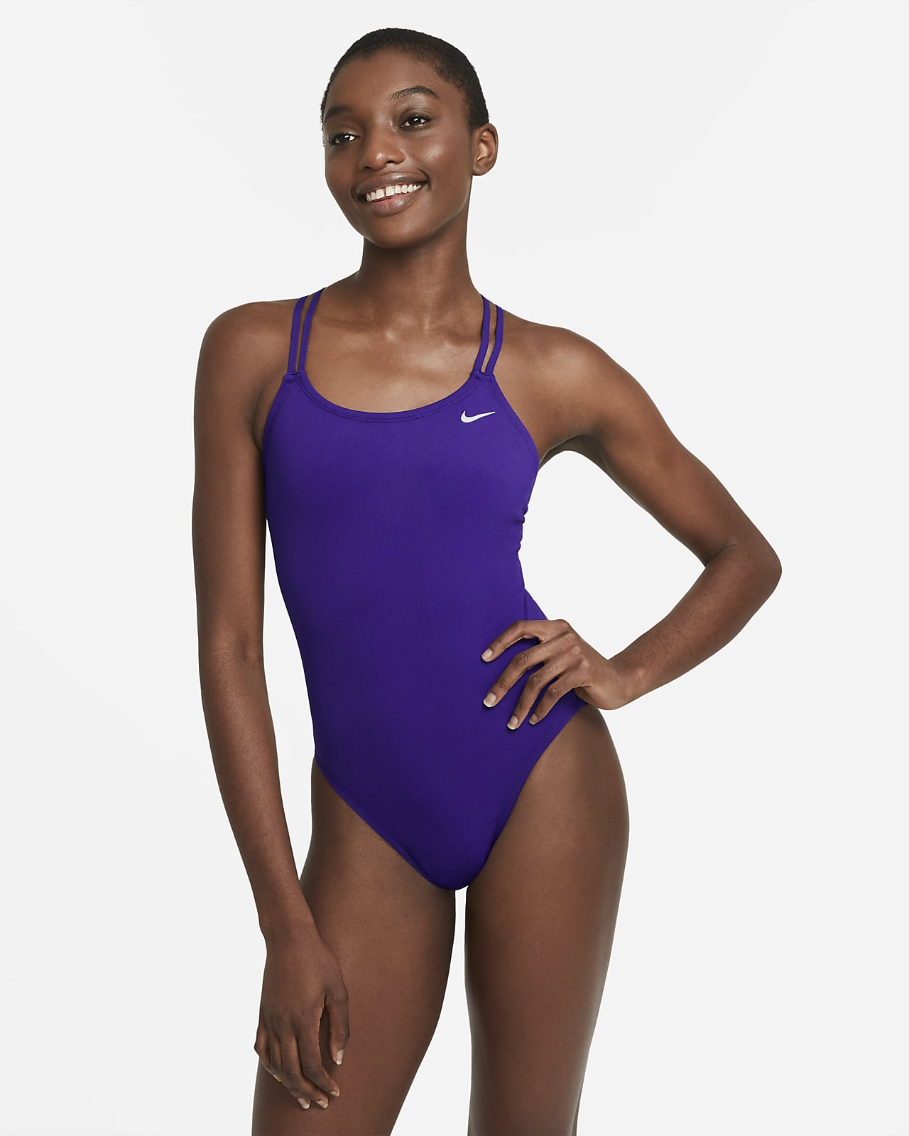 Nike HydraStrong Solid Women's Spiderback 1-Piece Swimsuit