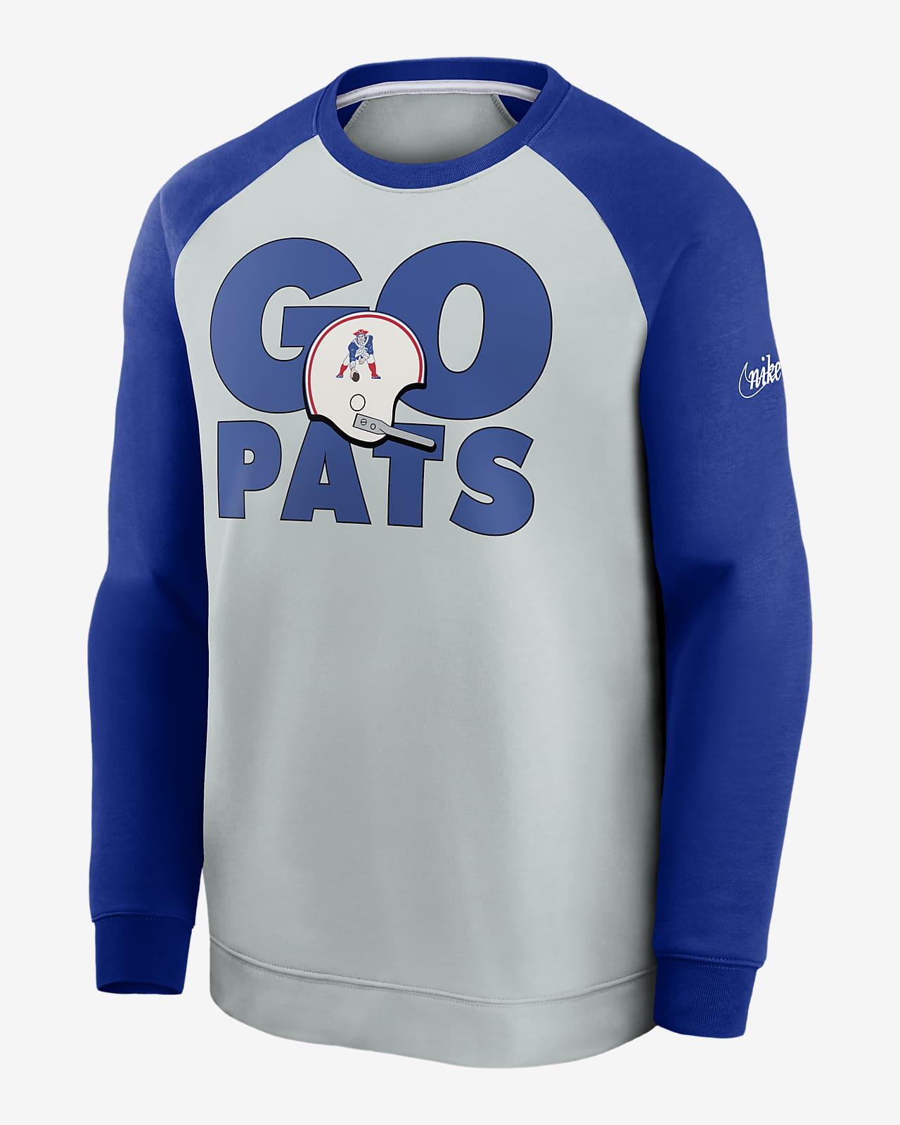 Nike Historic Raglan (NFL Patriots) Men's Sweatshirt