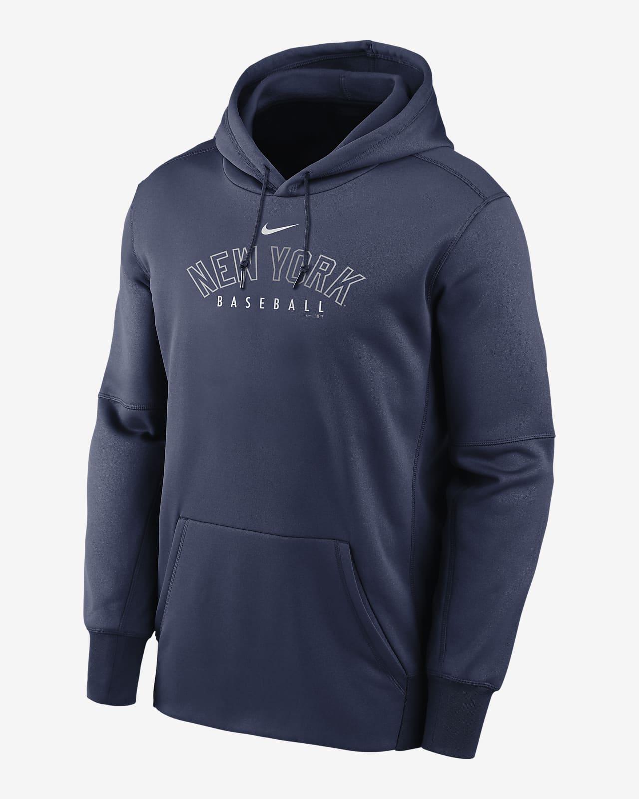 Nike Therma Outline Wordmark (MLB New York Yankees) Men's Pullover Hoodie