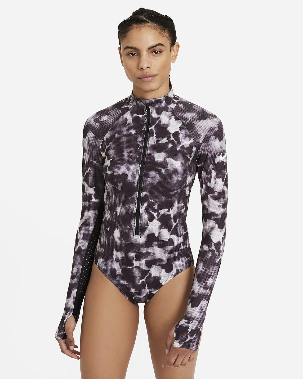 Nike Women's Long-Sleeve 1-Piece Swimsuit