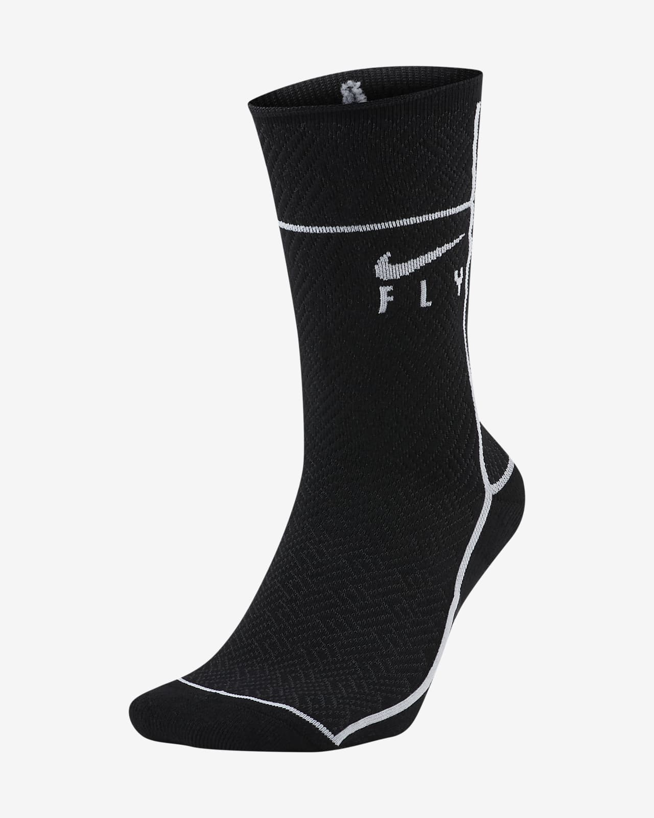 Nike SNKR SOX Swoosh Fly Basketball Crew Socks