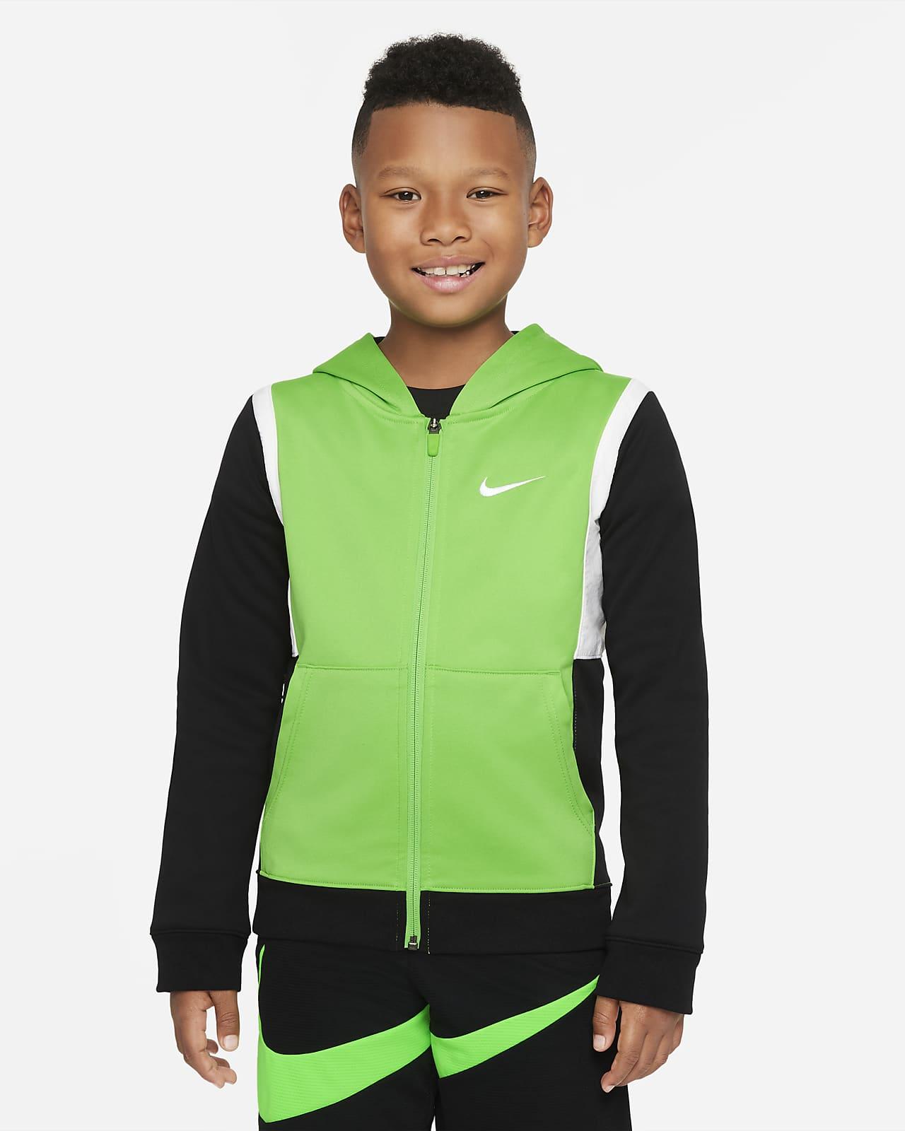 Nike Therma-FIT Elite Big Kids' (Boys') Full-Zip Basketball Hoodie