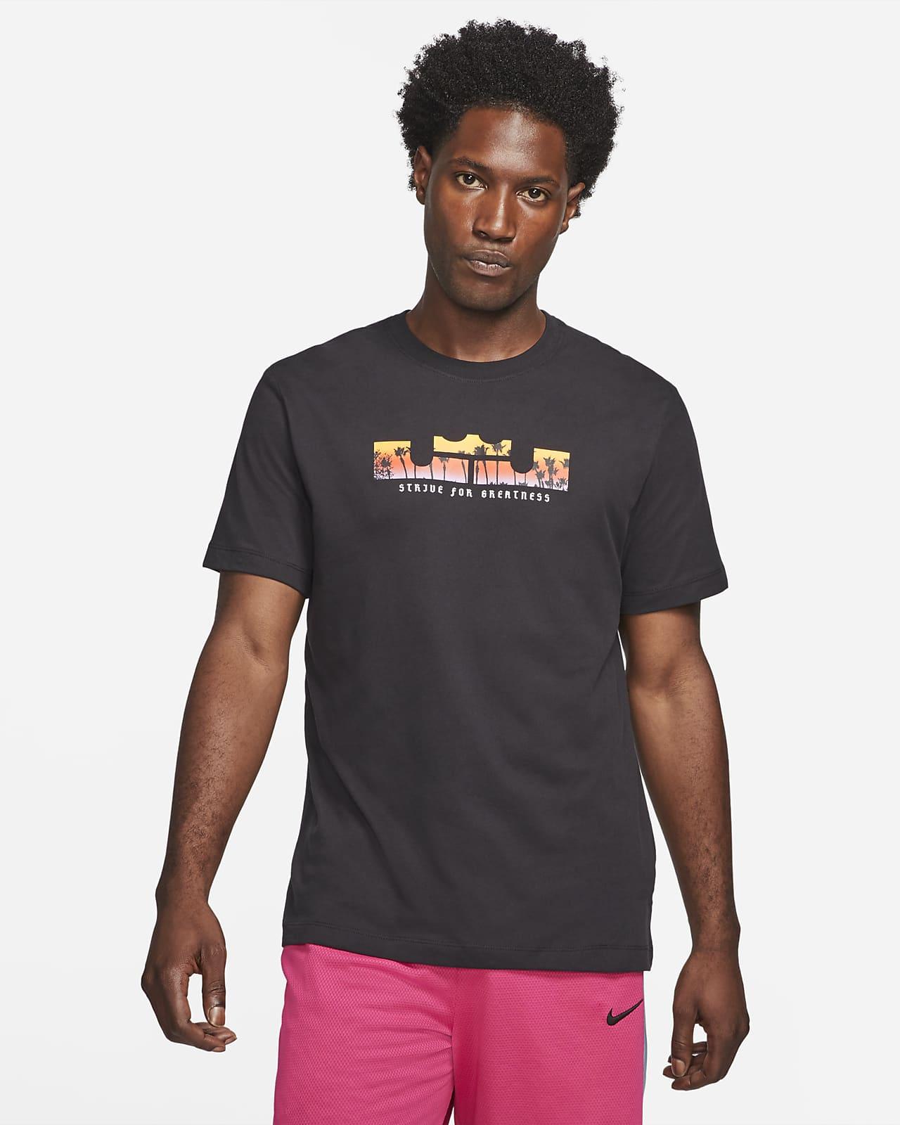 Tee-shirt de basketball à manches courtes Nike Dri-FIT LeBron Logo pour Homme