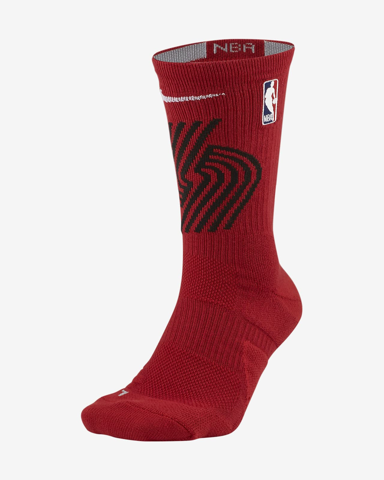 Portland Trail Blazers Elite Nike NBA Crew Socks