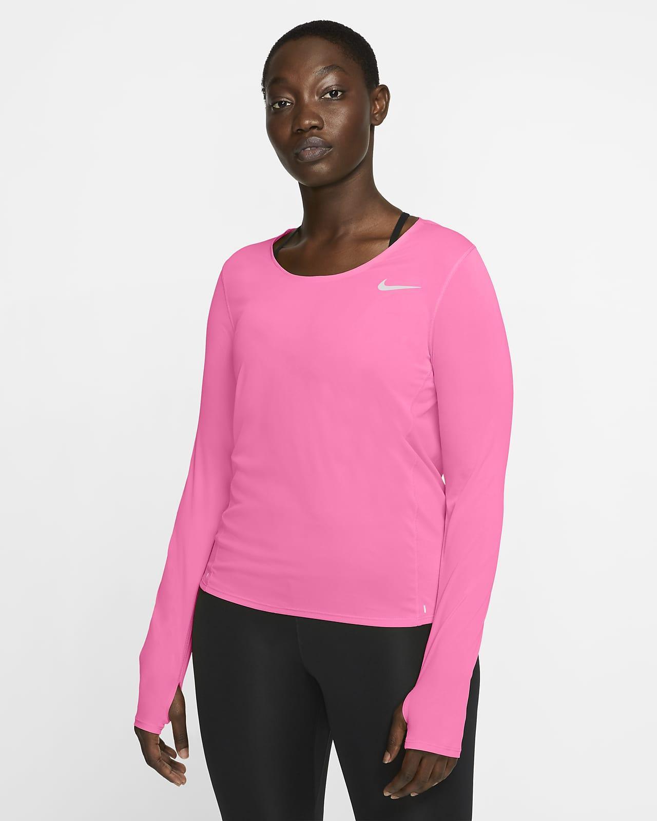 Nike Camiseta de running de manga larga - Mujer