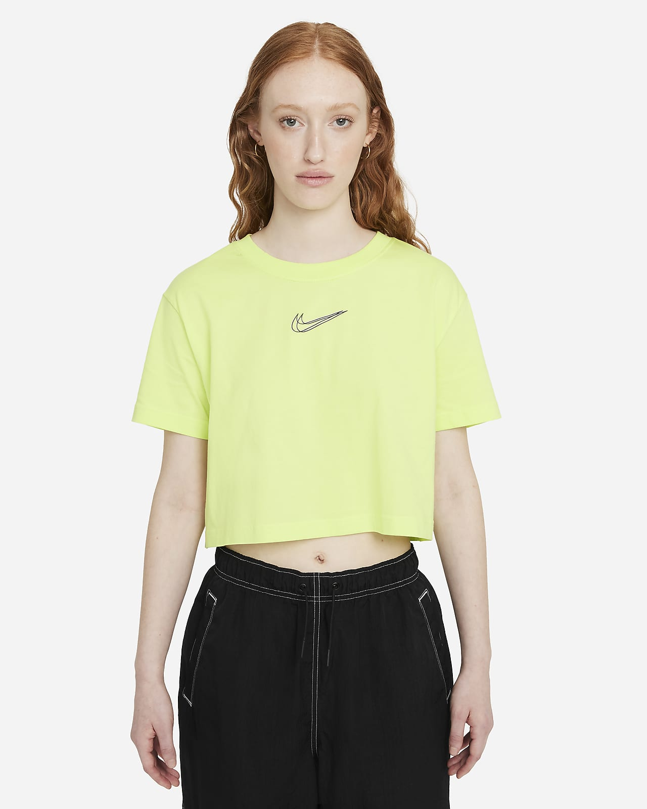 Playera corta de danza para mujer Nike Sportswear