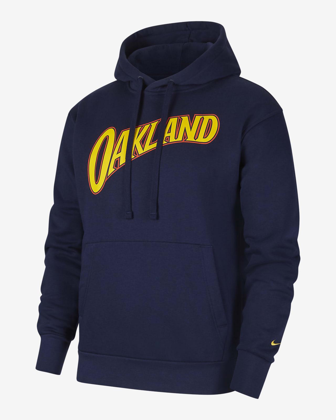 Sudadera con capucha sin cierre Nike NBA para hombre de los Golden State Warriors City Edition Logo