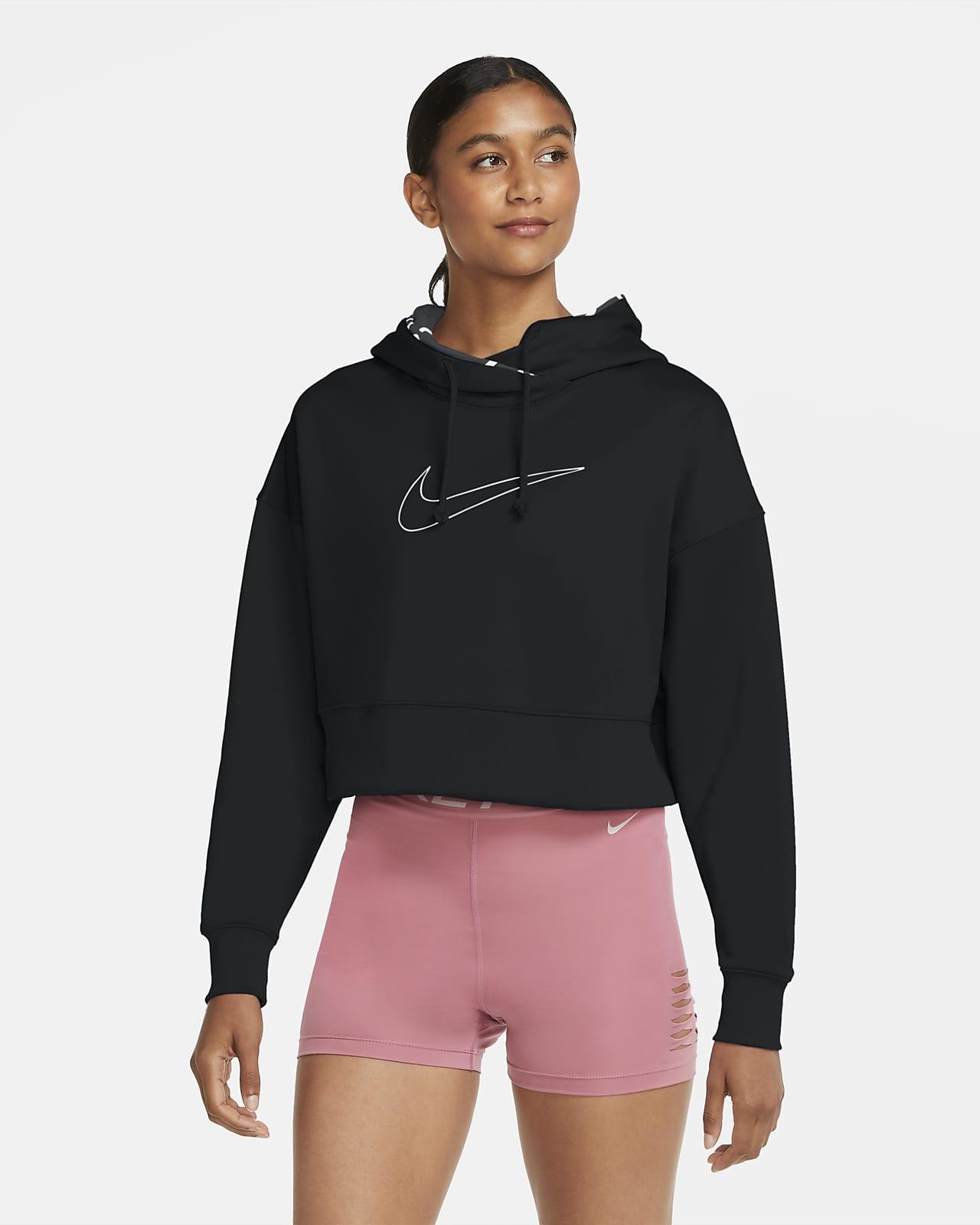 Dámská zkrácená tréninková mikina Nike Therma s kapucí