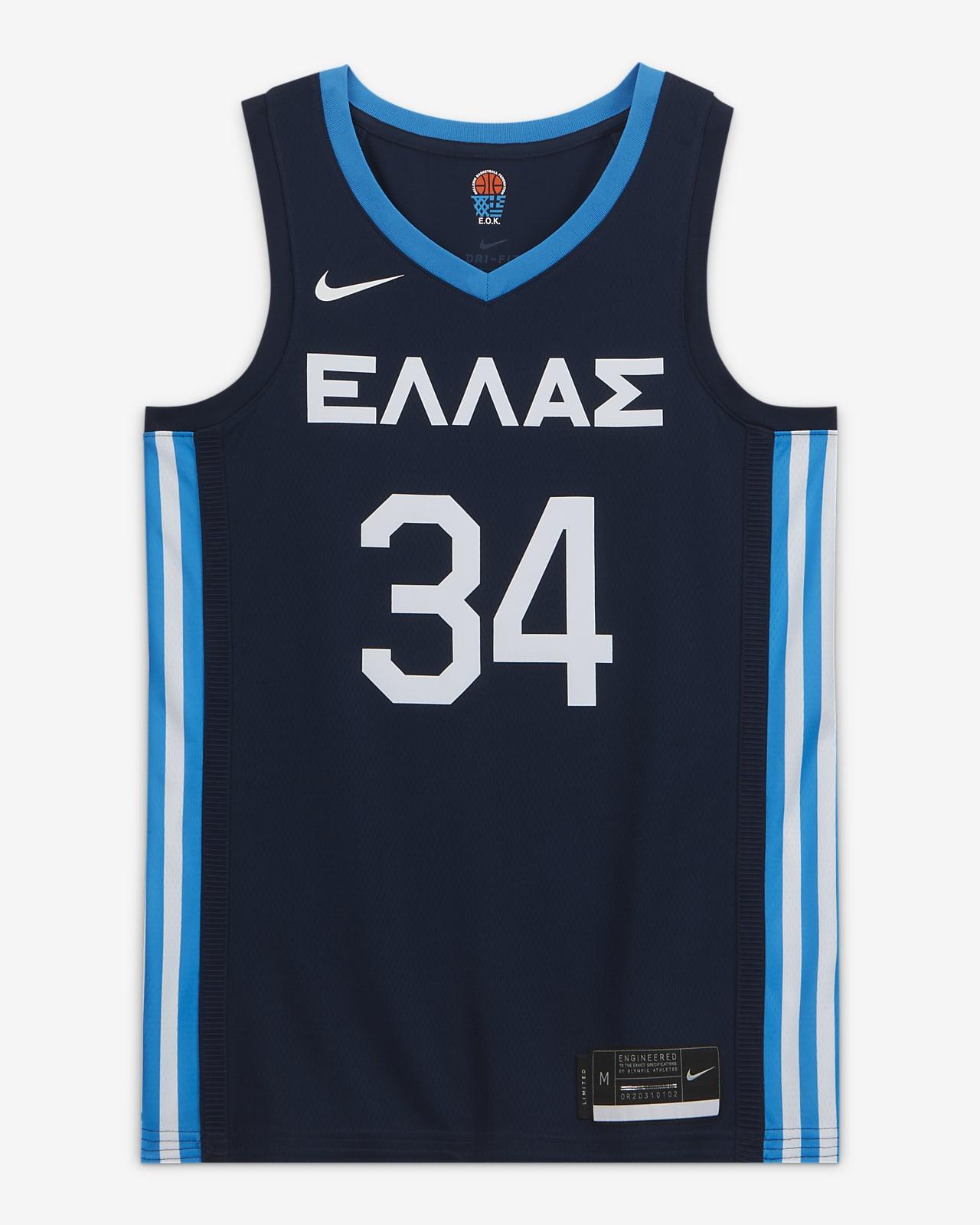 Мужское баскетбольное джерси Greece (Road) Nike Limited