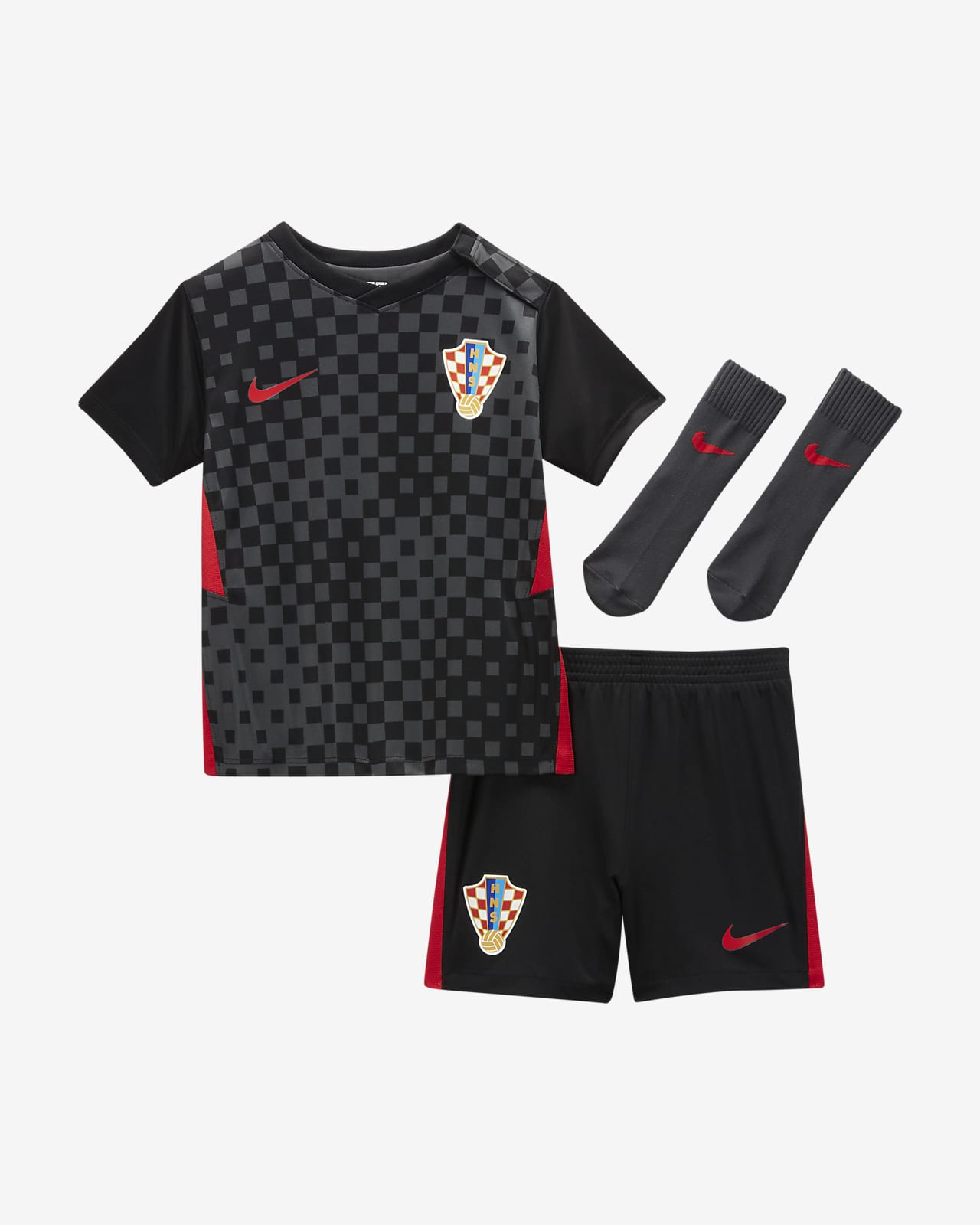 Kroatia 2020 (bortedrakt) fotballdraktsett til sped-/småbarn
