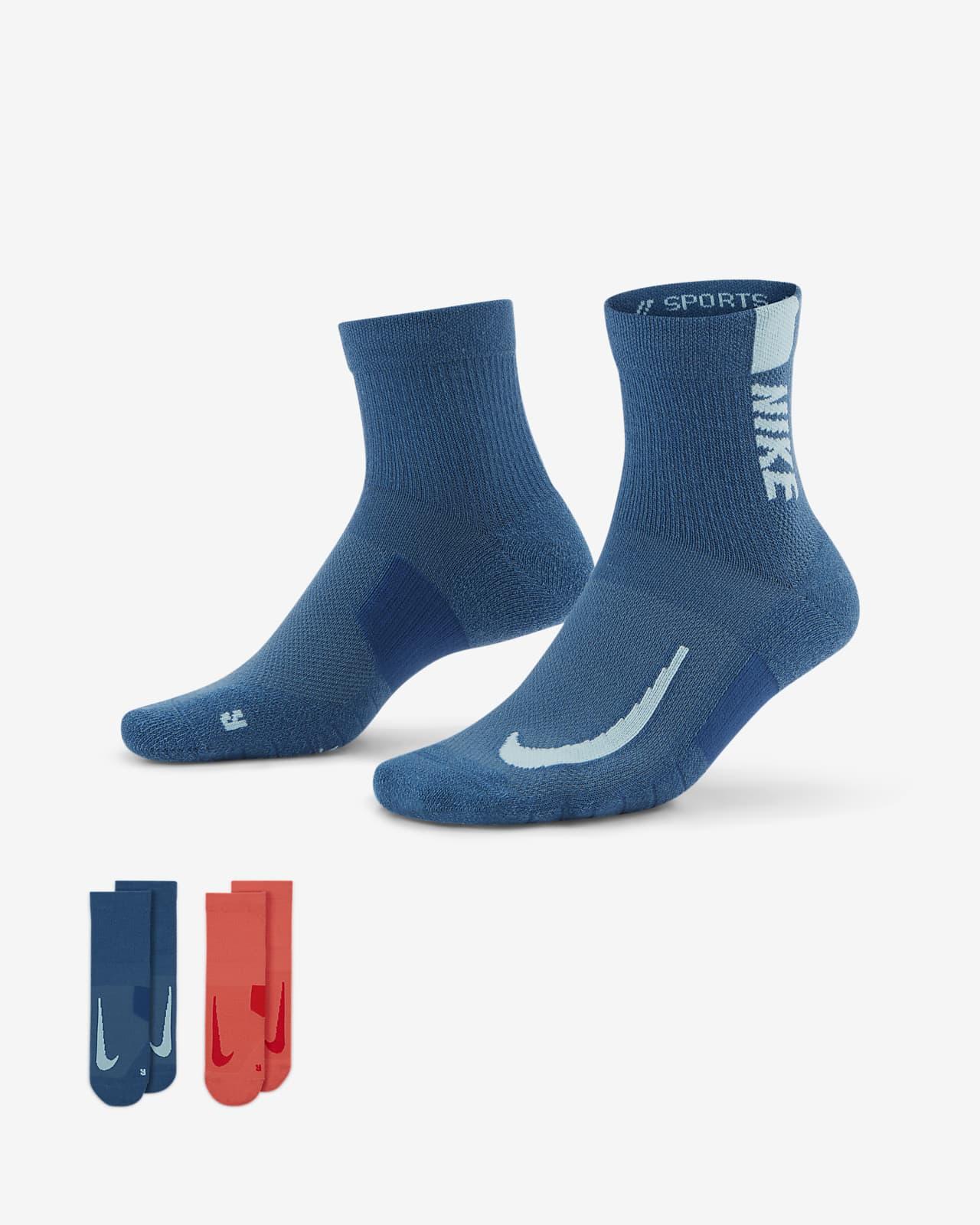 Nike Multiplier Running Ankle Socks (2 Pairs)