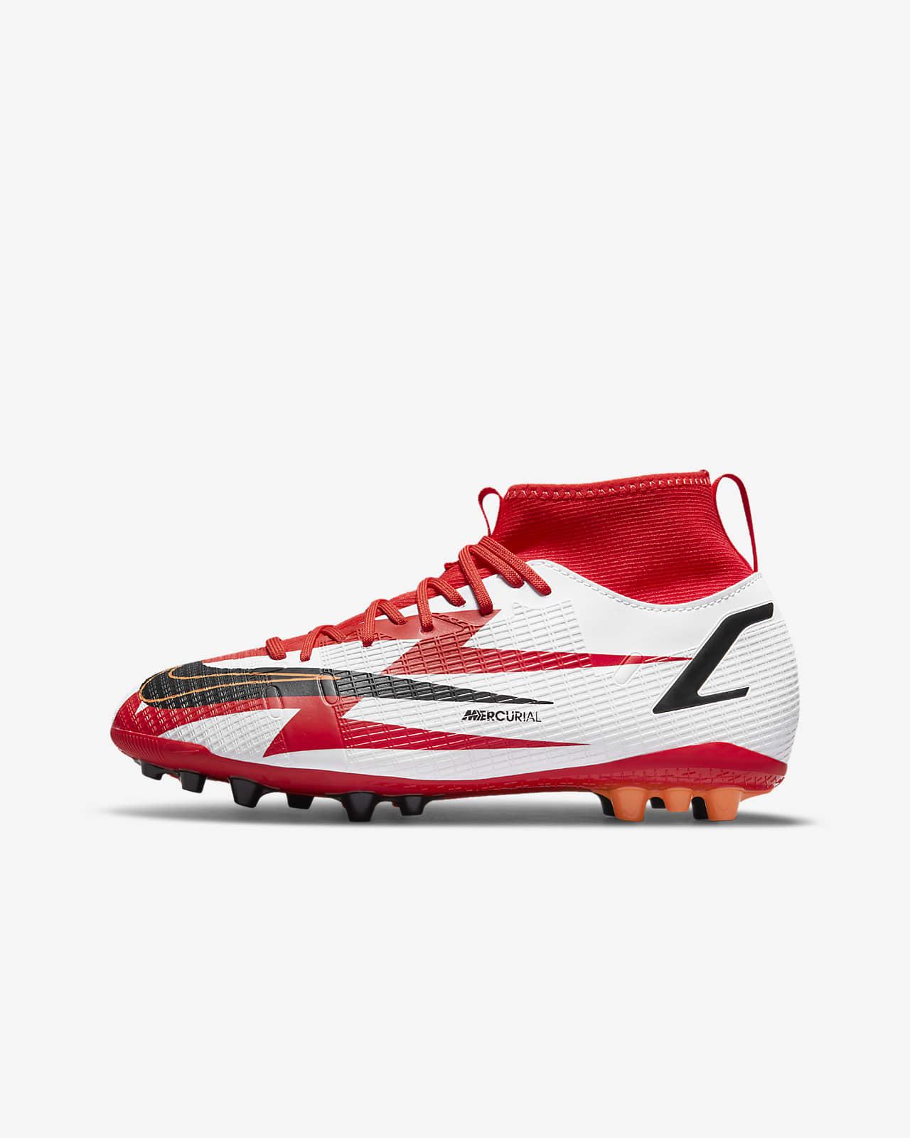 Chaussure de football à crampons pour terrain synthétique Nike Jr. Mercurial Superfly 8 Academy CR7 AG pour Jeune enfant/Enfant plus âgé