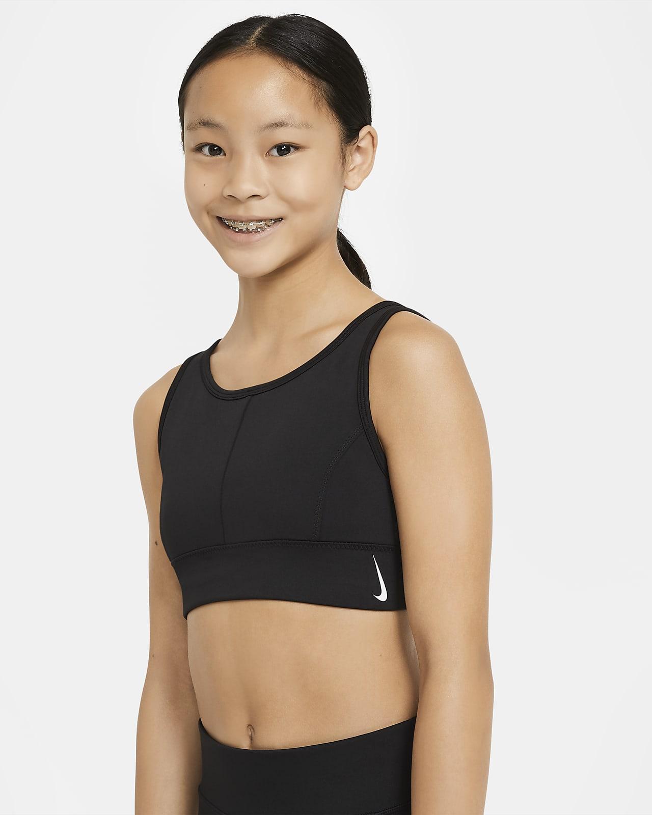 Nike Swoosh Luxe hosszított sportmelltartó nagyobb gyerekeknek (lányoknak)
