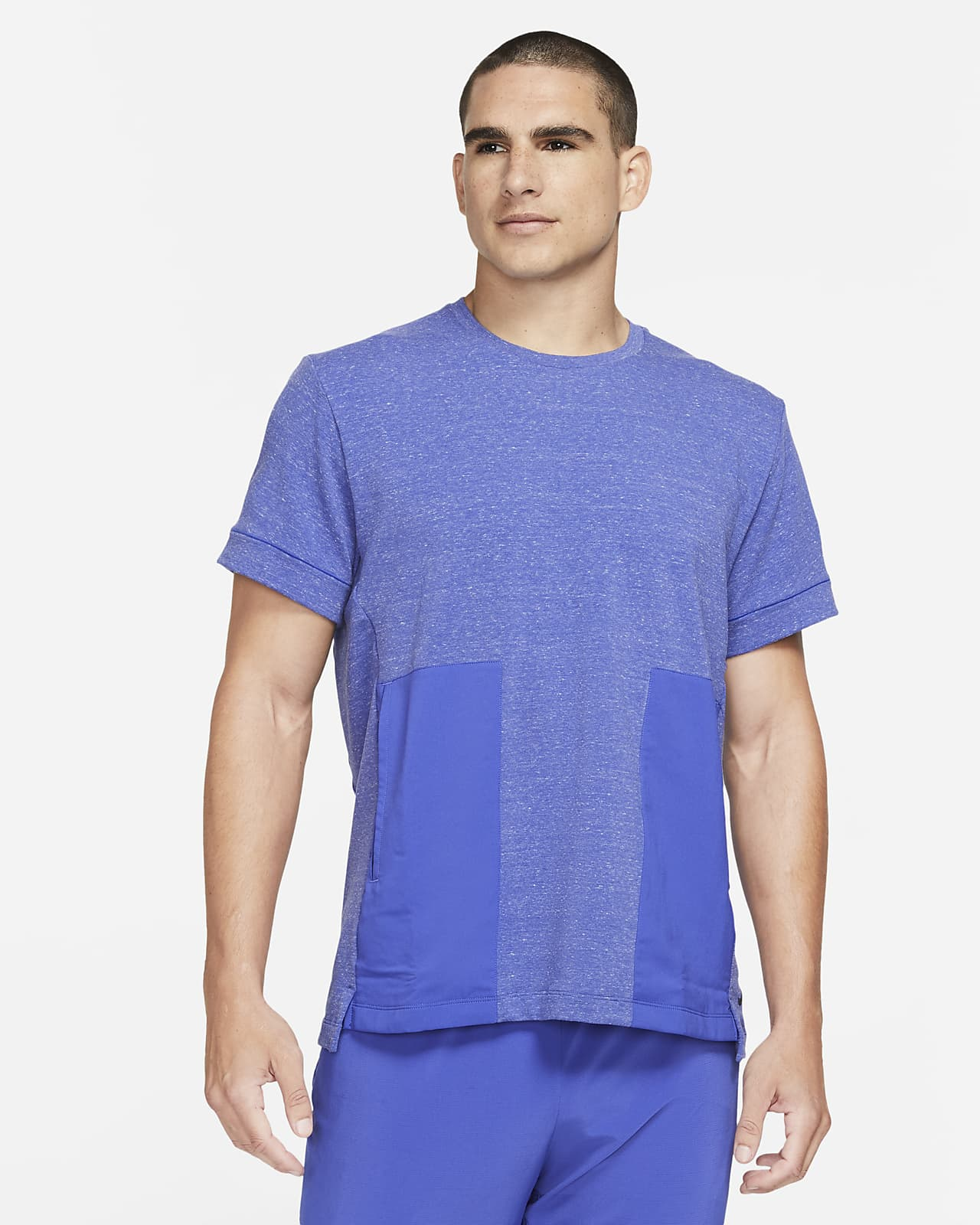Kortärmad tröja Nike Yoga Dri-FIT för män