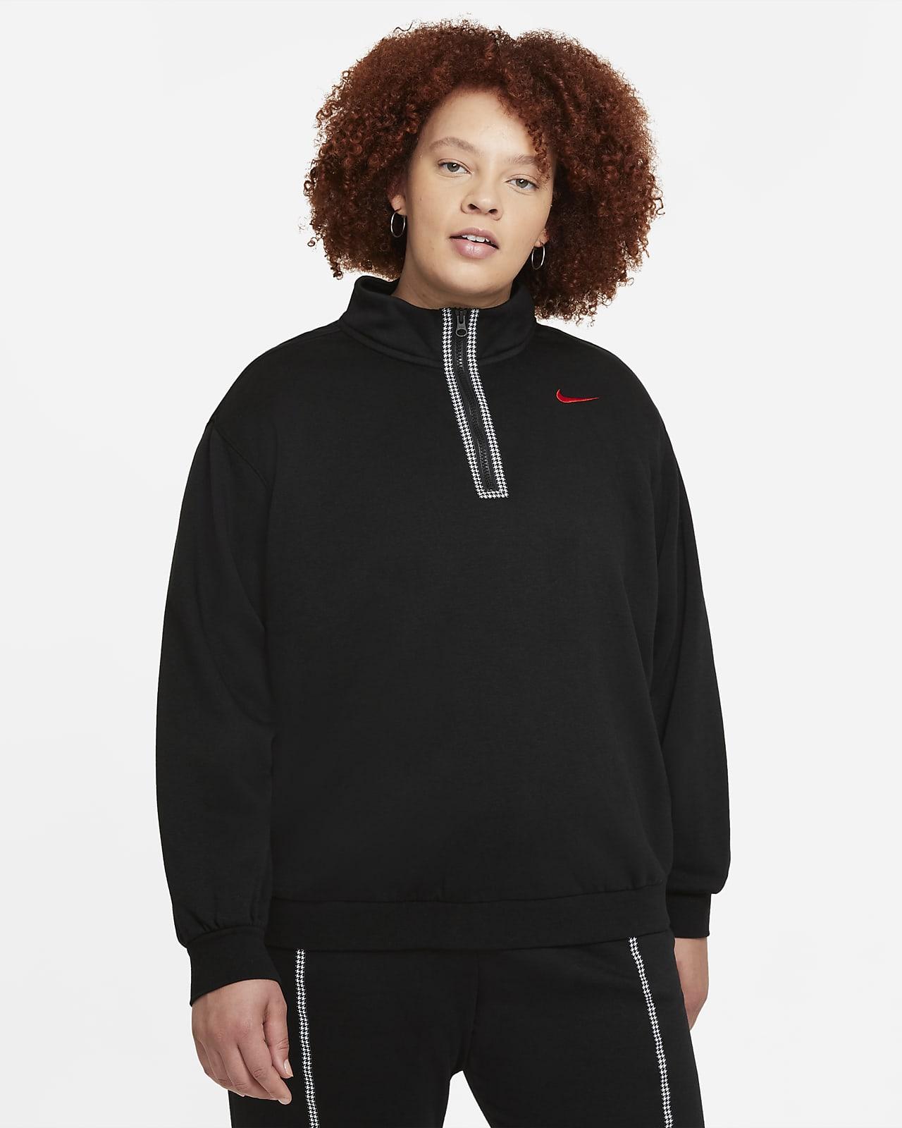 Sudadera de medio cierre para mujer Nike Sportswear Icon Clash (talla grande)