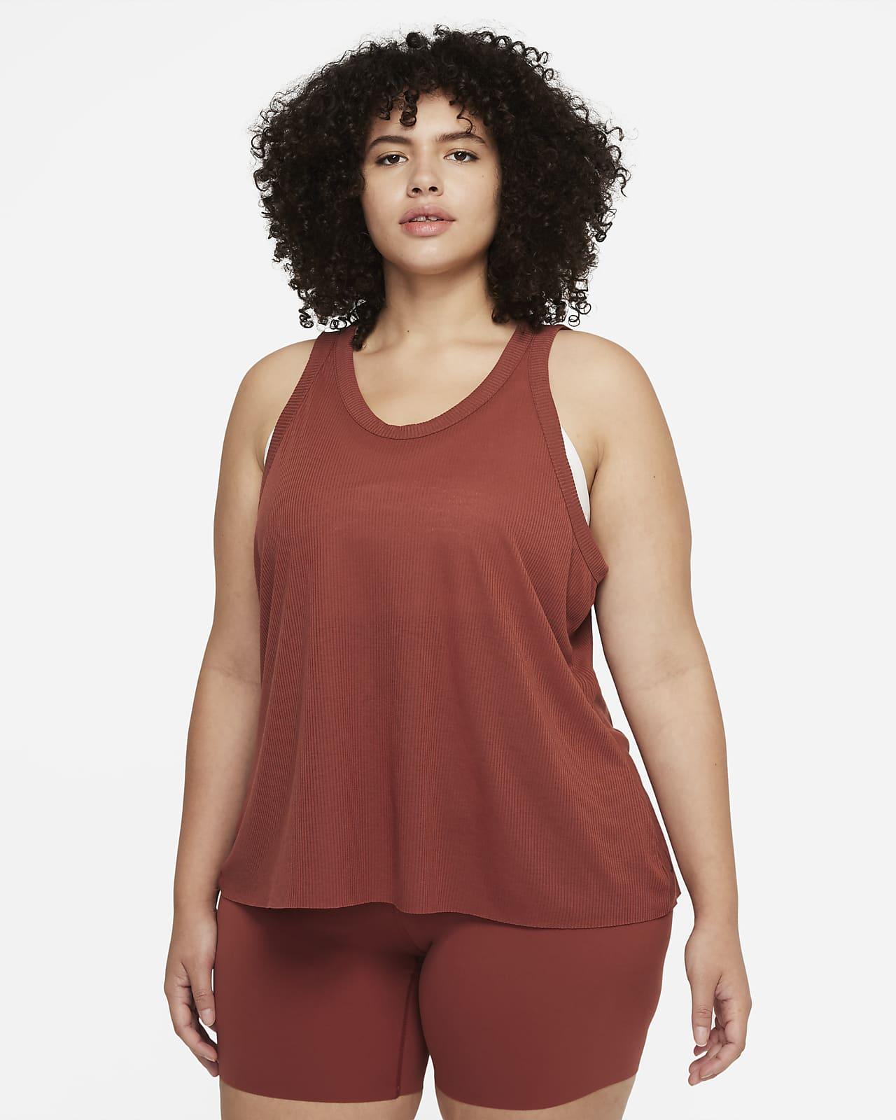 Camiseta de tirantes para mujer Nike Yoga Luxe (talla grande)