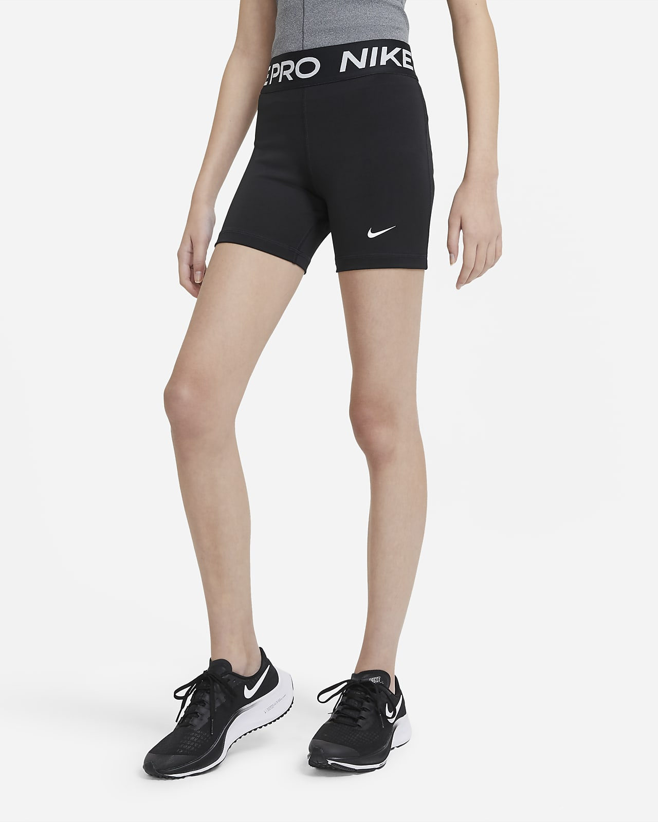 Shorts para niñas talla grande Nike Pro