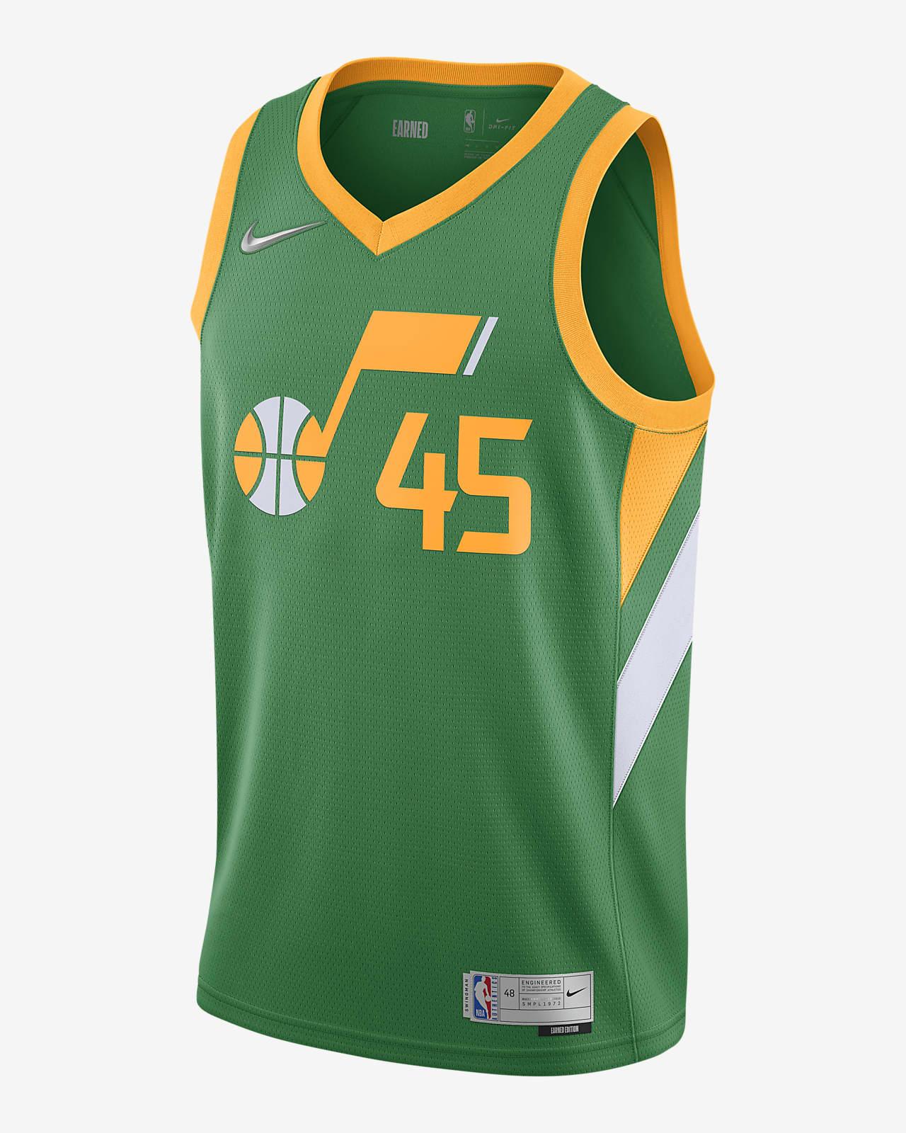 Donovan Mitchell Jazz Earned Edition Men's Nike NBA Swingman Jersey