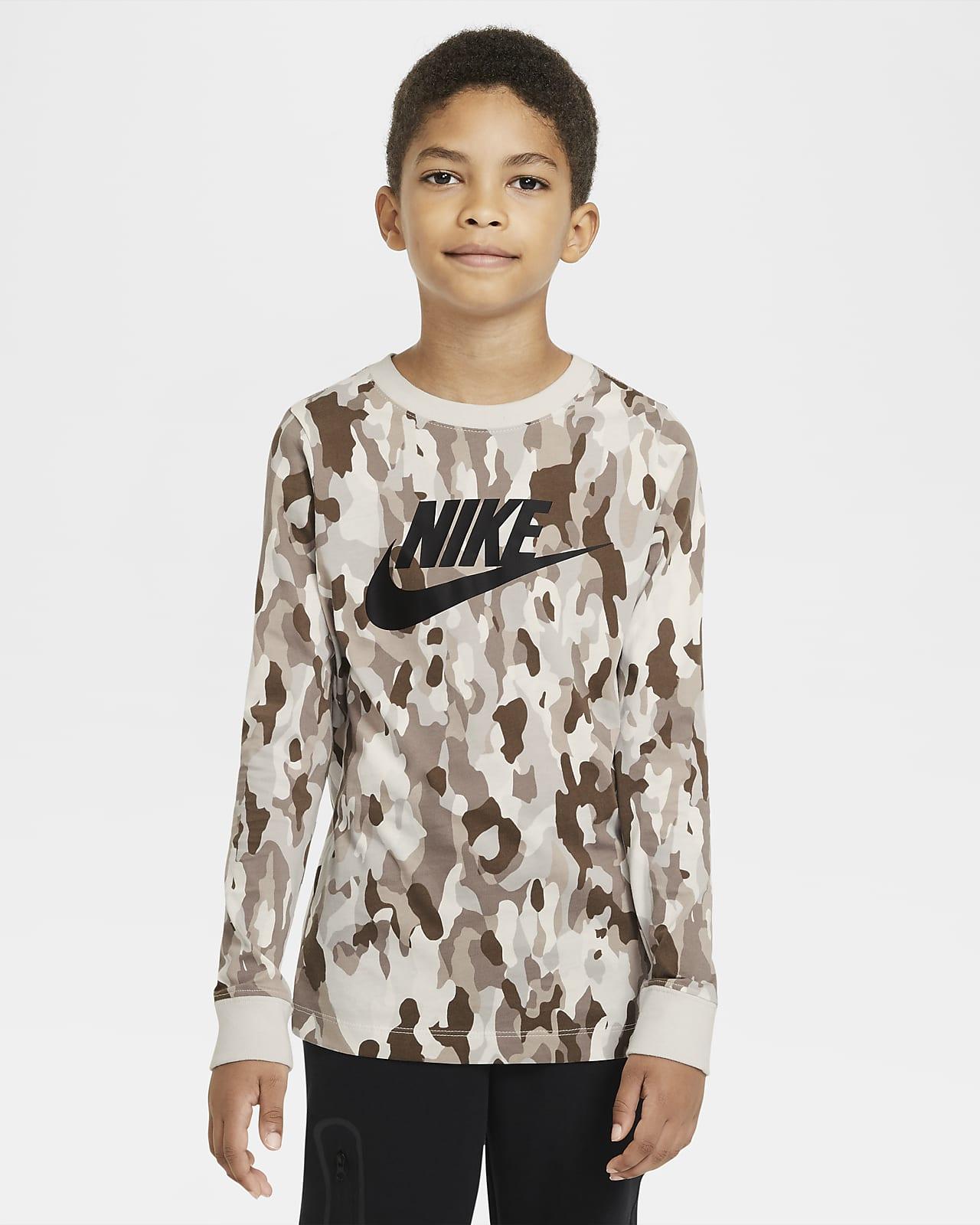 Camisola de manga comprida estampada Nike Sportswear Júnior (Rapaz)